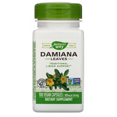 Nature's Way Liść Damiana, 400 mg, 100 Kapsułek