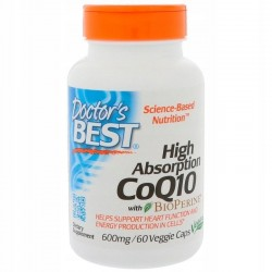 Doctor's BEST CoQ10 Koenzym Q 10, 600 mg, 60 kaps