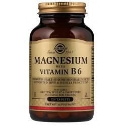 SOLGAR, Magnez z witaminą B6, 250 tab