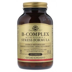 SOLGAR STRESS Formula B-Complex + C / 250 tabletek