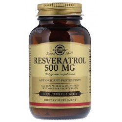 SOLGAR, Resveratrol, 500 mg, 30 kapsułek