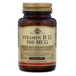 SOLGAR, Witamina B12 500mcg 100 tabletek