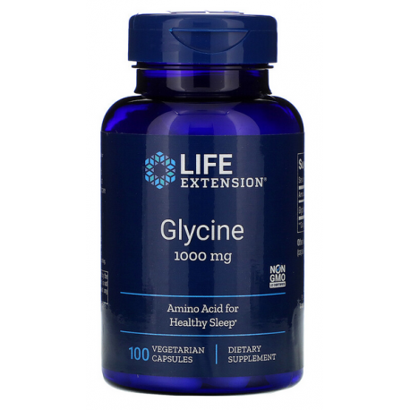 Life Extension Glicyna 1000mg, 100 kapsulek