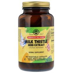 SOLGAR, Milk Thistle Herb Extract, 150 kapsułek