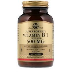 SOLGAR, Witamina B1 500 mg 100 tabletek