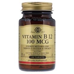 SOLGAR, Witamina B12 100 mcg 100 tabletek