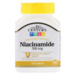 21st Century Niacinamide, 500 mg, 110 tabletek