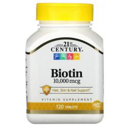 21st Century Biotyna 10000 mcg 120 tabletek
