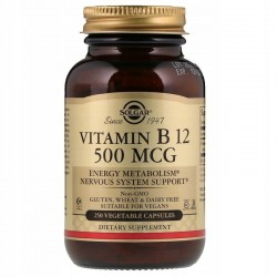 SOLGAR, Witamina B12 500 µg 250 kapsułek