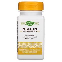 Nature's Way Niacyna, Witamina B3 100 mg 100 kaps