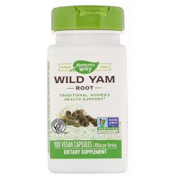 Nature's Way Wild Yam, Root, 425 mg 100 kapsułek