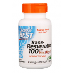 krótki termin DOCTOR'S BEST Trans-Resveratrol, 100 mg, 60 kaps