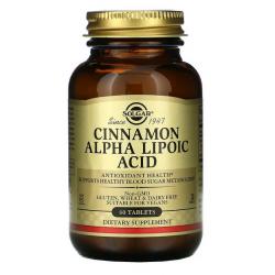 SOLGAR, Cynamon i kwas Alfa Liponowy 60 tabletek