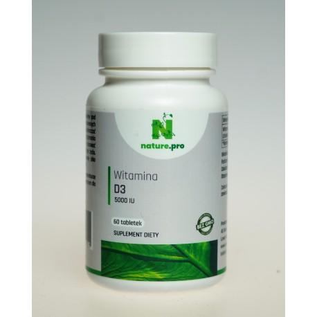 NaturePRO Witamina D3 125 mcg 5000IU 60 tabletek
