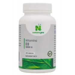 NaturePRO Witamina D3 10000 IU 400 tabletek