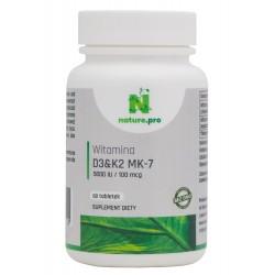 NaturePRO Witamina D3 5000IU K2 100mcg 30 tabletek