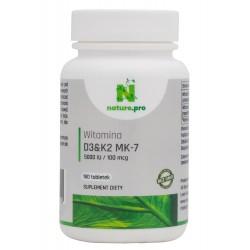 NaturePRO Witamina D3 5000IU K2 100mcg 180 tabletek