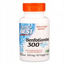 DOCTOR'S BEST Benfotiamina, 300 mg, 60 kaps