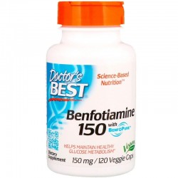DOCTOR'S BEST Benfotiamina, 150 mg, 120 kaps