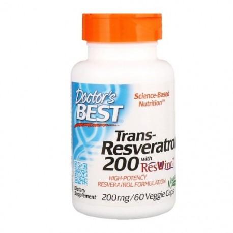 DOCTOR'S BEST Trans-Resveratrol, 200 mg, 60 kaps