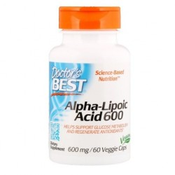 Doctor's BEST Kwas Alfa Liponowy, 600 mg, 60 kaps