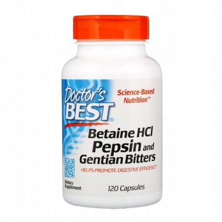 Doctor's BEST Betaina HCL, 650 mg x 120 kapsułek