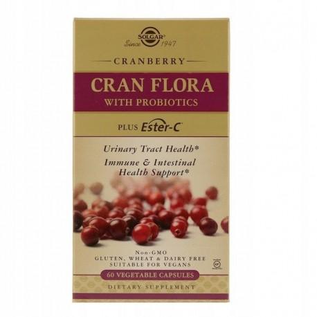 SOLGAR, Cran Flora z probiotykami, 60 kapsułek