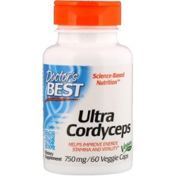 Doctor's BEST Ultra Cordyceps 750 mg, 60 kapsułek