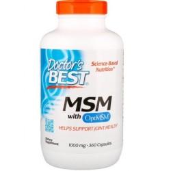 Doctor's BEST MSM, 1000 mg, 360 kap ORGANICZNY MSM