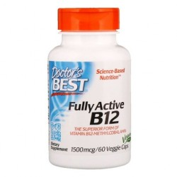 Doctor's BEST Fully Active B12, 1500 mcg, 60 kaps