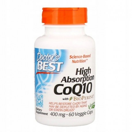 Doctor's BEST CoQ10 Koenzym Q 10, 400 mg, 60 kaps