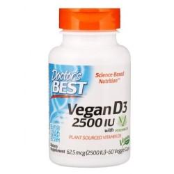 DOCTOR'S BEST Vegan Witamina D3, 2500 IU, x60