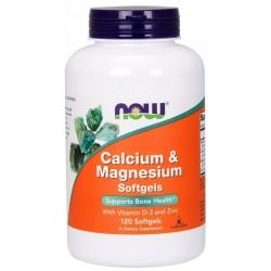 NOW FOODS calcium magnesium 120 kapsułek