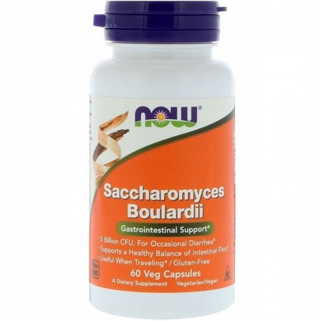 NOW FOODS Saccharomyces Boulardii 60 kapsułek