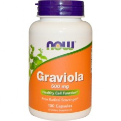 NOW FOODS Grawiola, 500mg, 100 kapsułek