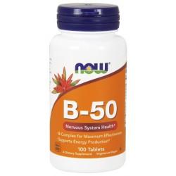 NOW FOODS B-50, B-Complex Kompleks 100 tabletek