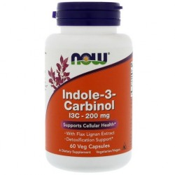 NOW FOODS Indole-3-Carbinol 200 mg 60 kapsułek