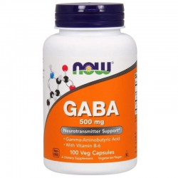 NOW FOODS GABA 500 mg 100 kapsułek