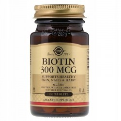 SOLGAR, Biotyna, 300 µg, 100 tabletek