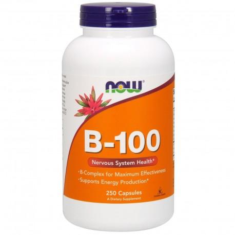 NOW FOODS B kompleks B-100, 250 kapsułek