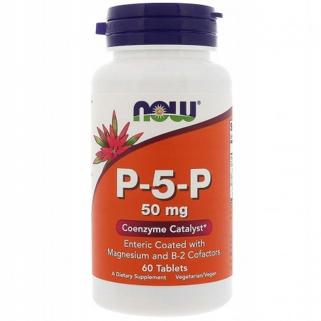 NOW FOODS P-5-P, 50 mg, 60 Tabl.