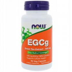 NOW FOODS EGCg, Zielona herbata 400mg,90 kaps.