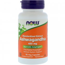 NOW FOODS Ashwagandha, 450 mg, 90 kapsułek