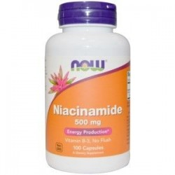 NOW FOODS Niacinamide, 500 mg, 100kaps.
