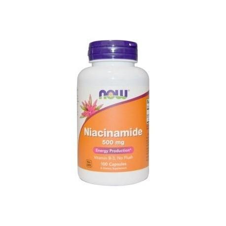 NOW FOODS Niacinamide, 500 mg, 100kaps.