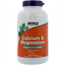 NOW FOODS Calcium & Magnesium 250 tabletek