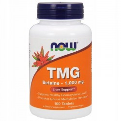 NOW FOODS TMG, Betaina 1,000 mg, 100 tabletek