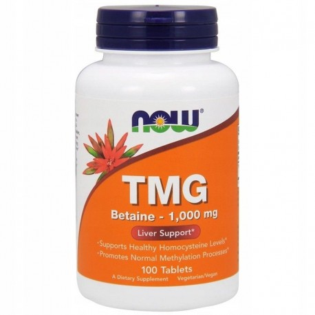 NOW FOODS TMG, Betaina 1,000 mg, 100 tabletek