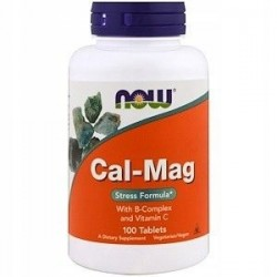 NOW FOODS Cal-Mag Stress Formula, B-complex, Wit C