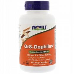 NOW FOODS Gr8-Dophilus, 120 kapsułek PROBIOTYK